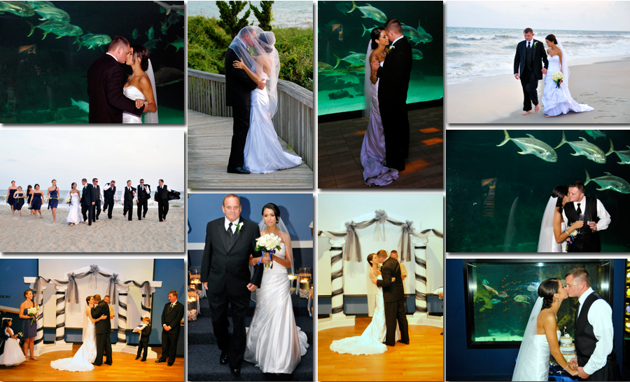Nc Aquarium At Pine Knoll Shores Wedding Atlantic Beach Nc